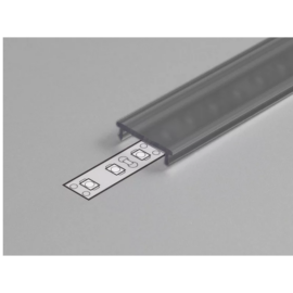 "Topmet LED profil fedél  ""F"" klikk fekete"