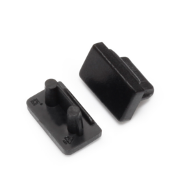 Topmet LED profil SLIM8 végzáró fekete