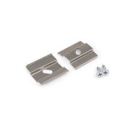 """Topmet LED Profil """"U5"""" ARC12 Oldalt Rögzítő Ezüst /pár"""