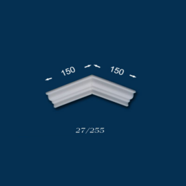 Polisztirol stukkó Hatvan 27 külső sarokelem