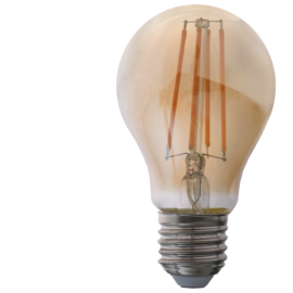 E27 Filament A60 Gömb 9 Watt 300° 1055 Lm WW Meleg fehér